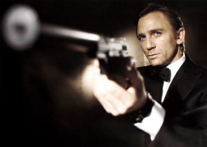 james-bond-daniel-craig-gun-barrel-tuxedo-grip-pistol-aim-fire-arm-bow-tie-photo
